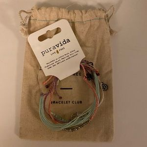 Four Pura Vida bracelets